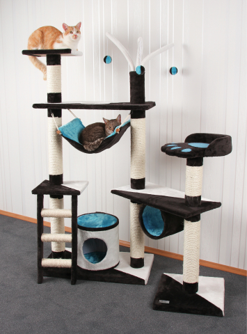 kratzbaum creativ anthrazit blau. Black Bedroom Furniture Sets. Home Design Ideas